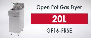 Garland GF16-FRSE Open Pot Gas Fryer 20L