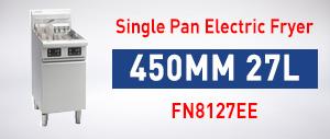 Single Pan Electric Fryer 450mm 27L