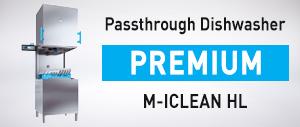 M-ICLEAN HL Passthrough Dishwasher