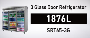 SRT65-3G 3 Glass Door Refrigerator