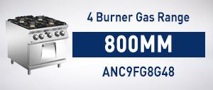 4 Burner Gas Range w/ Oven