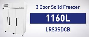 LRS3SDCB 3 Door Soild Freezer
